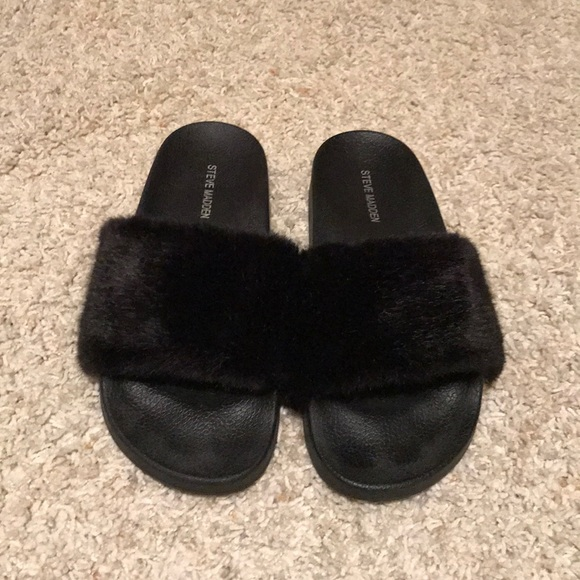 new york uk store new appearance Steve Madden Shoes | Furry Slides | Poshmark